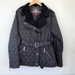 Vince Camuto fall moto style quilted jacket